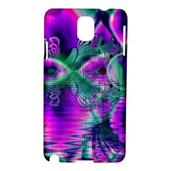 Teal Violet Crystal Palace, Abstract Cosmic Heart Samsung Galaxy Note 3 N9005 Hardshell Case