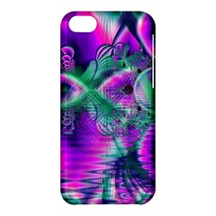 Teal Violet Crystal Palace, Abstract Cosmic Heart Apple Iphone 5c Hardshell Case