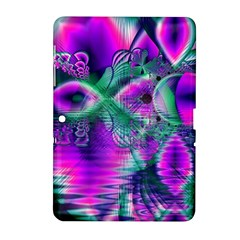 Teal Violet Crystal Palace, Abstract Cosmic Heart Samsung Galaxy Tab 2 (10.1 ) P5100 Hardshell Case
