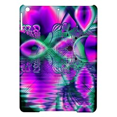 Teal Violet Crystal Palace, Abstract Cosmic Heart Apple iPad Air Hardshell Case