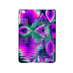 Teal Violet Crystal Palace, Abstract Cosmic Heart Apple iPad Mini 2 Hardshell Case