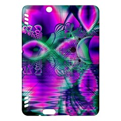 Teal Violet Crystal Palace, Abstract Cosmic Heart Kindle Fire Hdx 7  Hardshell Case
