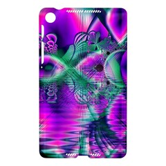 Teal Violet Crystal Palace, Abstract Cosmic Heart Google Nexus 7 (2013) Hardshell Case