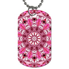 Twirling Pink, Abstract Candy Lace Jewels Mandala  Dog Tag (One Sided)