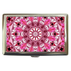 Twirling Pink, Abstract Candy Lace Jewels Mandala  Cigarette Money Case