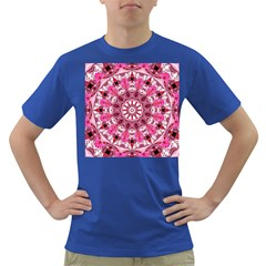 Twirling Pink, Abstract Candy Lace Jewels Mandala  Men s T Shirt (colored)