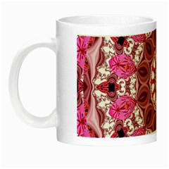 Twirling Pink, Abstract Candy Lace Jewels Mandala  Glow in the Dark Mug