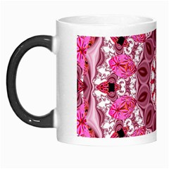 Twirling Pink, Abstract Candy Lace Jewels Mandala  Morph Mug