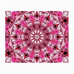 Twirling Pink, Abstract Candy Lace Jewels Mandala  Glasses Cloth (small)