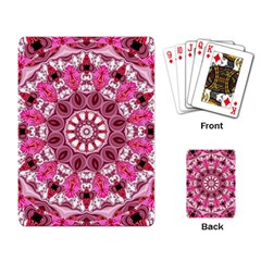 Twirling Pink, Abstract Candy Lace Jewels Mandala  Playing Cards Single Design