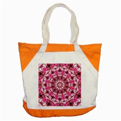 Twirling Pink, Abstract Candy Lace Jewels Mandala  Accent Tote Bag