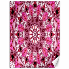 Twirling Pink, Abstract Candy Lace Jewels Mandala  Canvas 36  x 48  (Unframed)