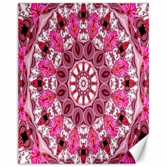 Twirling Pink, Abstract Candy Lace Jewels Mandala  Canvas 11  X 14  (unframed)
