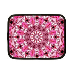 Twirling Pink, Abstract Candy Lace Jewels Mandala  Netbook Sleeve (small)