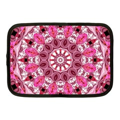 Twirling Pink, Abstract Candy Lace Jewels Mandala  Netbook Sleeve (medium)