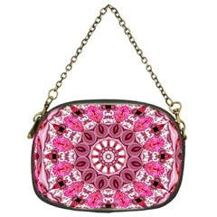 Twirling Pink, Abstract Candy Lace Jewels Mandala  Chain Purse (one Side)
