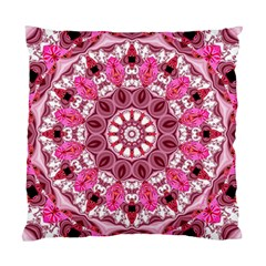 Twirling Pink, Abstract Candy Lace Jewels Mandala  Cushion Case (Single Sided)