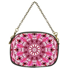 Twirling Pink, Abstract Candy Lace Jewels Mandala  Chain Purse (two Sided)