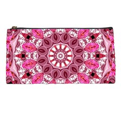 Twirling Pink, Abstract Candy Lace Jewels Mandala  Pencil Case