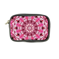 Twirling Pink, Abstract Candy Lace Jewels Mandala  Coin Purse