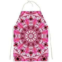 Twirling Pink, Abstract Candy Lace Jewels Mandala  Apron