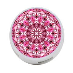Twirling Pink, Abstract Candy Lace Jewels Mandala  4-Port USB Hub (Two Sides)