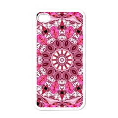 Twirling Pink, Abstract Candy Lace Jewels Mandala  Apple Iphone 4 Case (white)