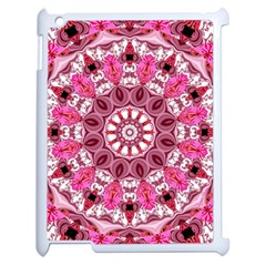 Twirling Pink, Abstract Candy Lace Jewels Mandala  Apple iPad 2 Case (White)