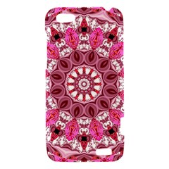 Twirling Pink, Abstract Candy Lace Jewels Mandala  HTC One V Hardshell Case