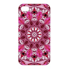 Twirling Pink, Abstract Candy Lace Jewels Mandala  Apple iPhone 4/4S Premium Hardshell Case