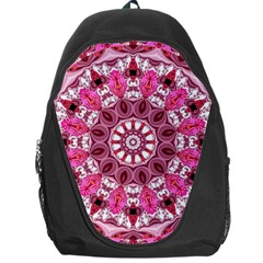 Twirling Pink, Abstract Candy Lace Jewels Mandala  Backpack Bag
