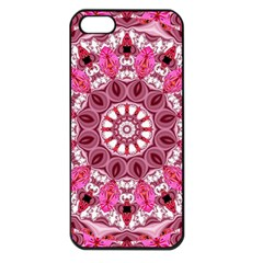 Twirling Pink, Abstract Candy Lace Jewels Mandala  Apple Iphone 5 Seamless Case (black)