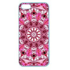Twirling Pink, Abstract Candy Lace Jewels Mandala  Apple Seamless iPhone 5 Case (Color)