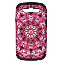 Twirling Pink, Abstract Candy Lace Jewels Mandala  Samsung Galaxy S Iii Hardshell Case (pc+silicone)