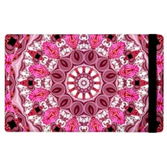 Twirling Pink, Abstract Candy Lace Jewels Mandala  Apple iPad 3/4 Flip Case