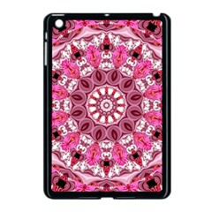 Twirling Pink, Abstract Candy Lace Jewels Mandala  Apple iPad Mini Case (Black)