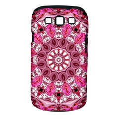 Twirling Pink, Abstract Candy Lace Jewels Mandala  Samsung Galaxy S III Classic Hardshell Case (PC+Silicone)