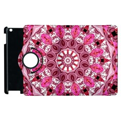 Twirling Pink, Abstract Candy Lace Jewels Mandala  Apple iPad 3/4 Flip 360 Case
