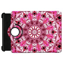 Twirling Pink, Abstract Candy Lace Jewels Mandala  Kindle Fire Hd 7  (1st Gen) Flip 360 Case