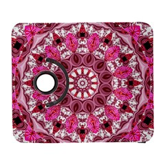 Twirling Pink, Abstract Candy Lace Jewels Mandala  Samsung Galaxy S  III Flip 360 Case
