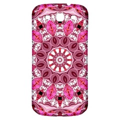 Twirling Pink, Abstract Candy Lace Jewels Mandala  Samsung Galaxy S3 S III Classic Hardshell Back Case