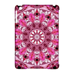 Twirling Pink, Abstract Candy Lace Jewels Mandala  Apple Ipad Mini Hardshell Case (compatible With Smart Cover)
