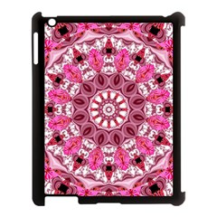 Twirling Pink, Abstract Candy Lace Jewels Mandala  Apple iPad 3/4 Case (Black)