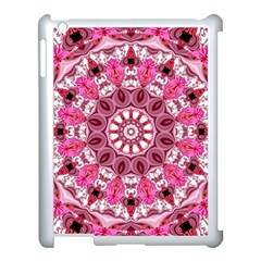 Twirling Pink, Abstract Candy Lace Jewels Mandala  Apple iPad 3/4 Case (White)