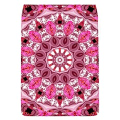 Twirling Pink, Abstract Candy Lace Jewels Mandala  Removable Flap Cover (Large)