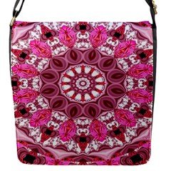 Twirling Pink, Abstract Candy Lace Jewels Mandala  Removable Flap Cover (small)