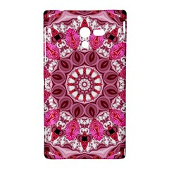 Twirling Pink, Abstract Candy Lace Jewels Mandala  Sony Xperia ZL (L35H) Hardshell Case