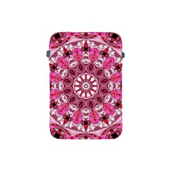 Twirling Pink, Abstract Candy Lace Jewels Mandala  Apple iPad Mini Protective Sleeve