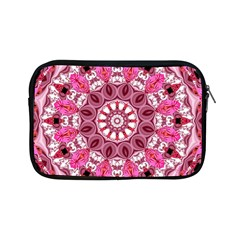Twirling Pink, Abstract Candy Lace Jewels Mandala  Apple iPad Mini Zippered Sleeve