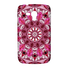 Twirling Pink, Abstract Candy Lace Jewels Mandala  Samsung Galaxy Duos I8262 Hardshell Case